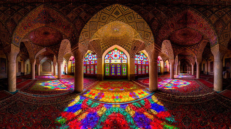 2 - Nasir Al-Mulk Mosque Shiraz Iran just3ds.com