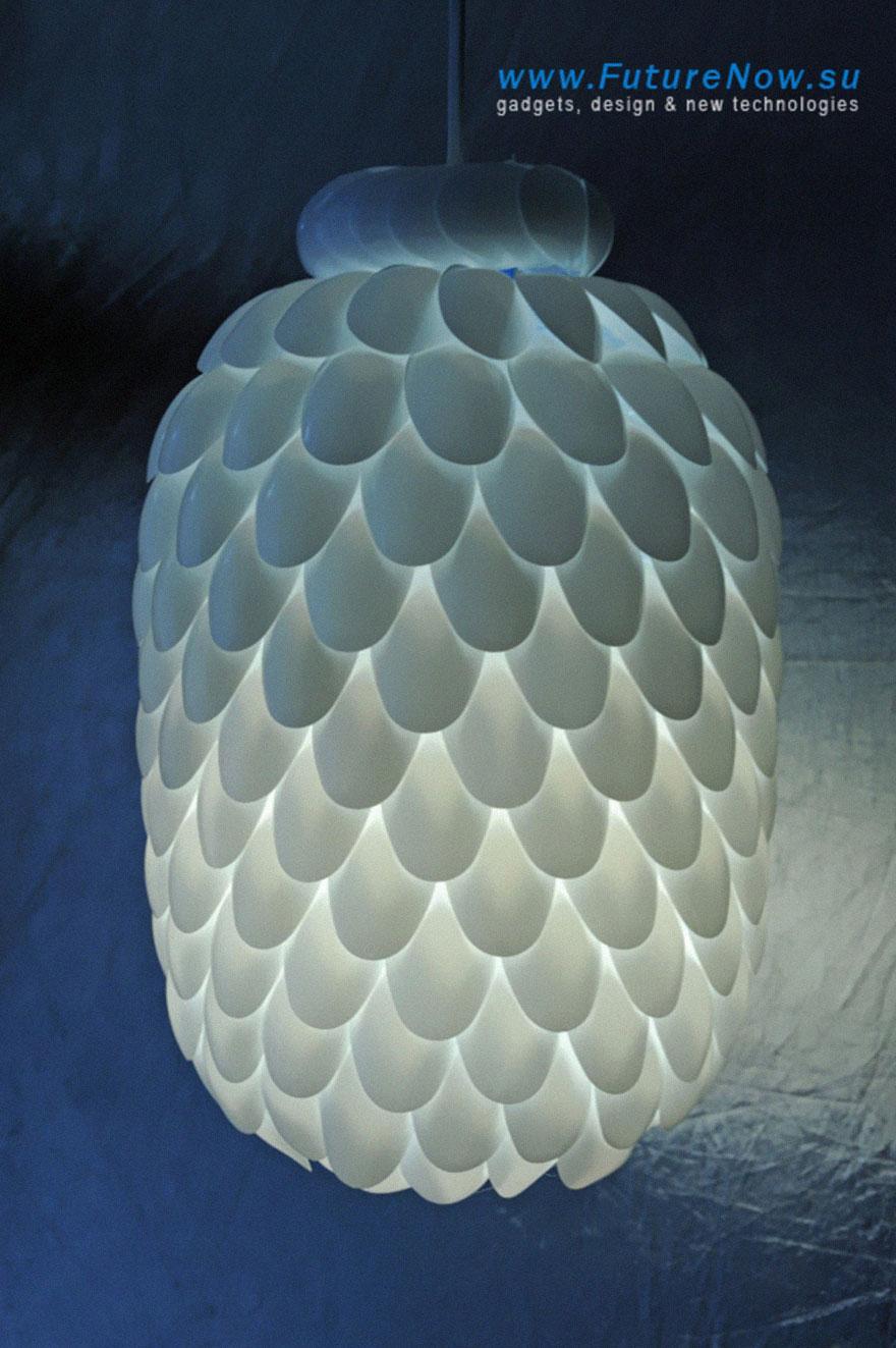 3Plastic Spoon Lamp just3ds.com