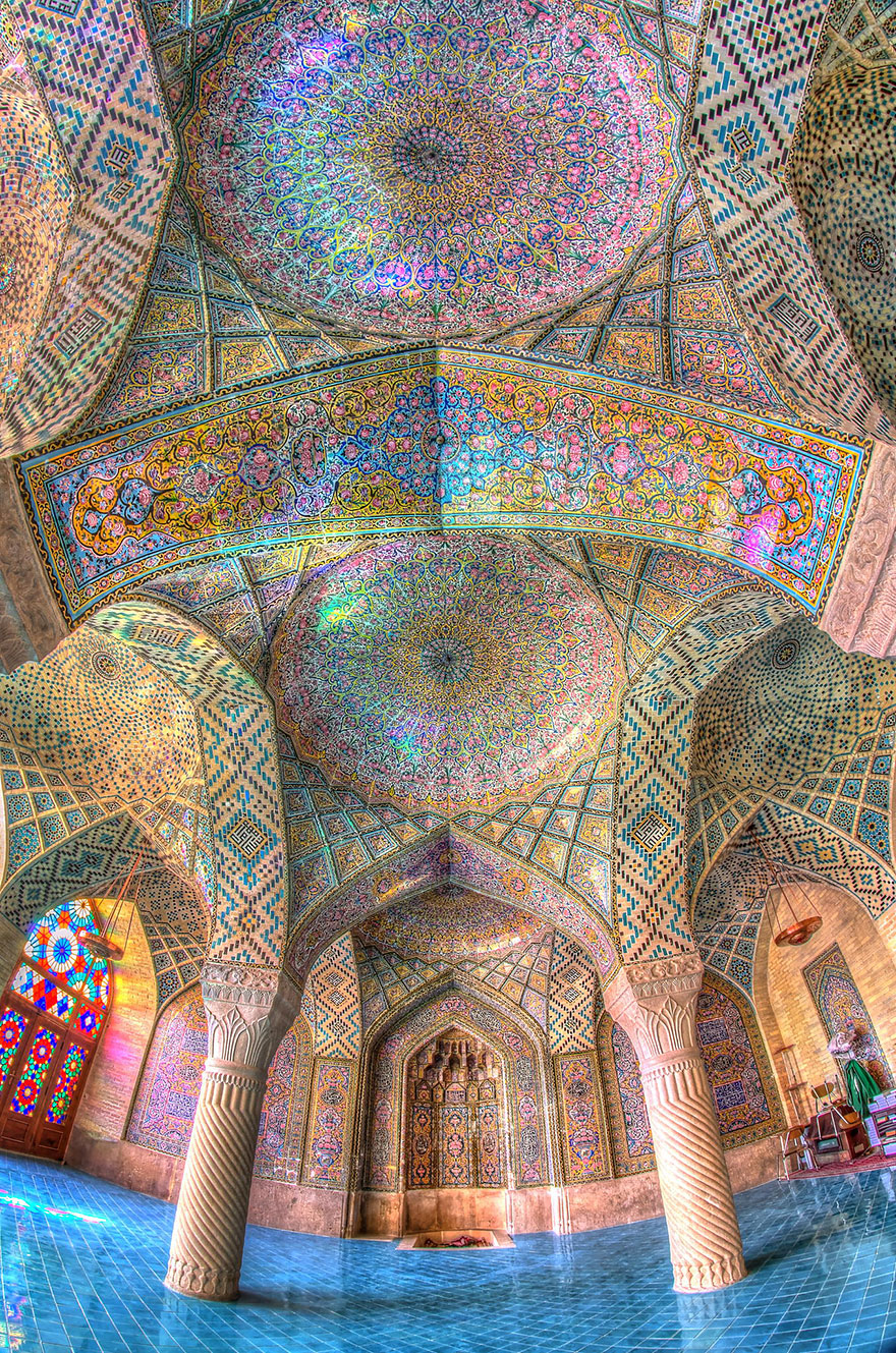 7 - Nasir Al-Mulk Mosque Shiraz Iran just3ds.com