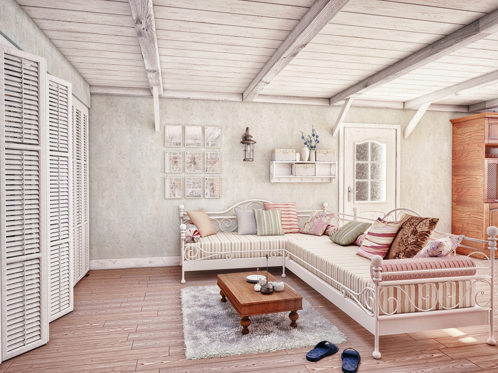 Provence style interior (3D rendering)