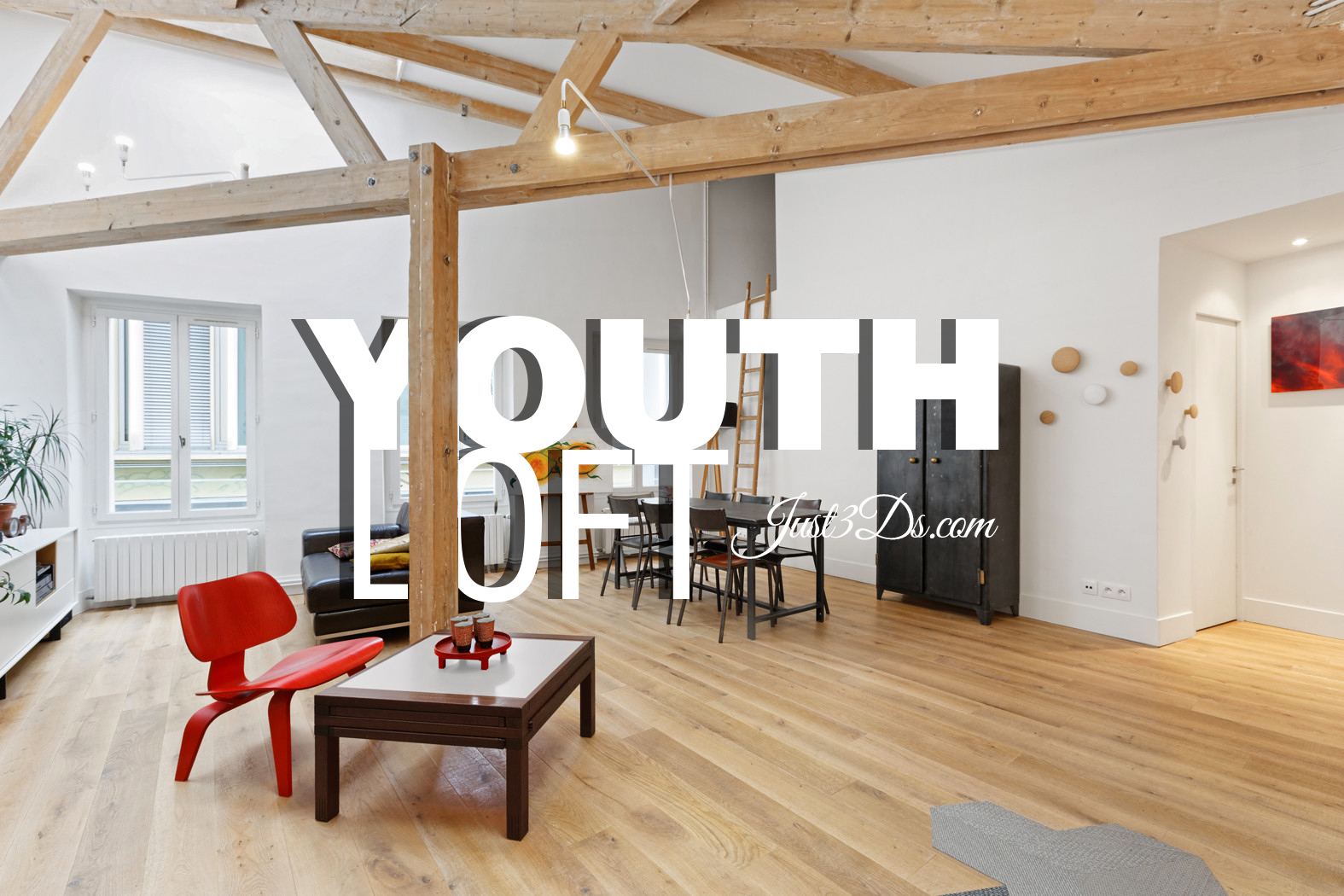 youth loft in paris just3ds. Black Bedroom Furniture Sets. Home Design Ideas